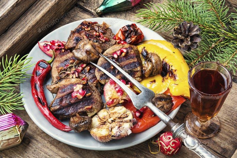 Christmas roast meat